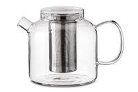 Teekanne Globe, 1500 ml Glas mit Edelstahlfilter
