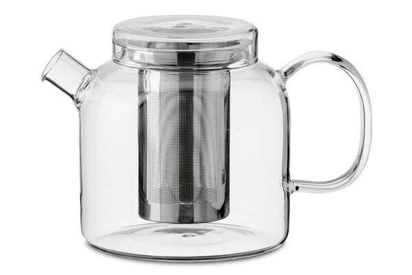 Teekanne Globe, 1200 ml Glas mit Edelstahlfilter