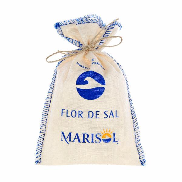Flor de Sal Marisol (Meersalz fein im Stoffbeutel - Fleur de Sel)