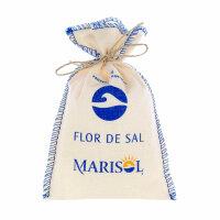 Flor de Sal Marisol (Meersalz fein im Stoffbeutel - Fleur...
