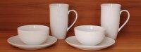 Teeporzellan schlicht weiß mit Produktauswahl