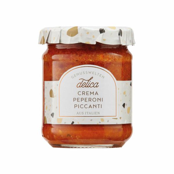 Crema Peperoni Piccanti (scharfe Paprikacreme)